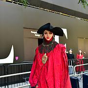 Daniel Lismore attend London Fashion Week SS19 street photography at the Strand, London, UK. 17 September 2018.