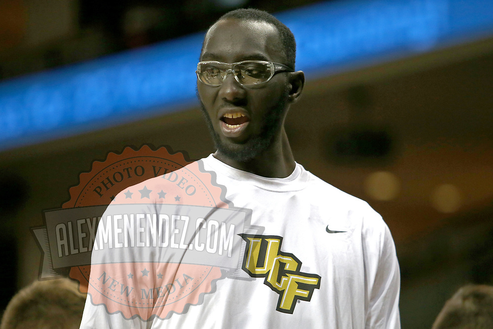ORLANDO, FL - NOVEMBER 15:  Tacko Fall #24 of the UCF Knights is seen during a NCAA basketball game against the Gardner-Webb Runnin Bulldogs at the CFE Arena on November 15, 2017 in Orlando, Florida. (Photo by Alex Menendez/Getty Images) *** Local Caption *** Tacko Fall