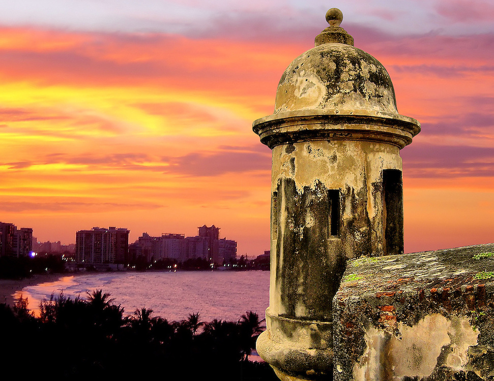 San Juan, Puerto Rico Composite of Two Photos<br />