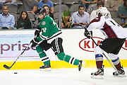 DALLAS, TX - SEPTEMBER 26:  Erik Cole #72 of the Dallas Stars controls the puck against the Colorado Avalanche in an NHL preseason game on September 26, 2013 at the American Airlines Center in Dallas, Texas.  (Photo by Cooper Neill/Getty Images) *** Local Caption *** Erik Cole
