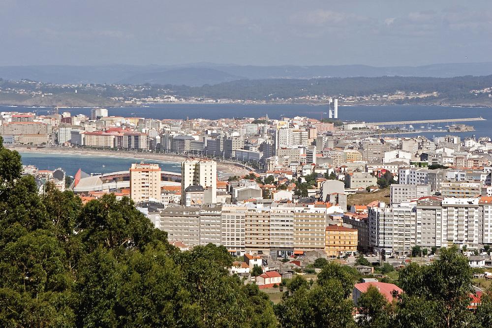 Panoramic view of La Coruna from Parque del Ocio.<br /> Vista panor&aacute;mica de La Coru&ntilde;a desde el alto del nuevo Parque de Ocio, al oeste de la ciudad.