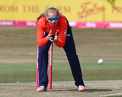 July 1, 2018 - London, Greater London, United Kingdom - Sophie Ecclestone of England Women.during International Twenty20 Final match between England Women and New Zealand Women  at The Cloudfm County Ground, Chelmsford, England on 01 July 2018. (Credit Image: © Kieran Galvin/NurPhoto via ZUMA Press)