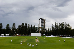 General view as storm clouds move in over the ground during day one of the Tour match at Richardson Park, Perth. PRESS ASSOCIATION Photo. Picture date: Saturday December 9, 2017. Photo credit should read: Jason O'Brien/PA Wire