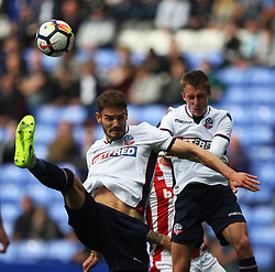 Dorian Dervite (L) and Stephen Darby of Bolton Wanderers in action - Mandatory by-line: Jack Phillips/JMP - 29/07/2017 - FOOTBALL - Macron Stadium - Bolton, England - Bolton Wanderers v Stoke City - Pre-Season Club Friendly