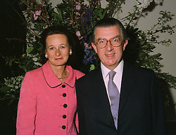 MR & MRS GEORGE MAGAN he is the city takeover expert, at a reception in London on April 9th 1997.LXN 44