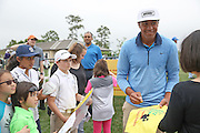 PGA golfer Tony Finau signs autographs for children at the Golf Club of Houston on Tuesday, March 29, 2016 in Humble, TX. (Photo: Thomas B. Shea/For the Chronicle)