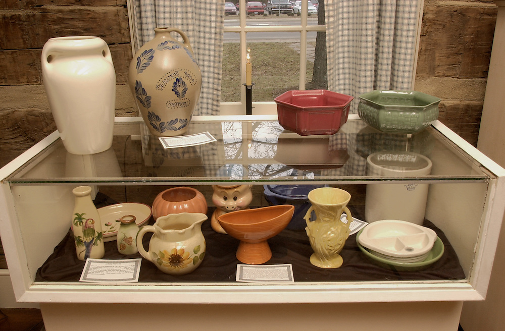 Pottery Exhibit At the Visitor's Center