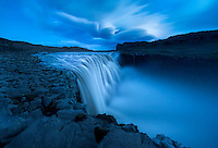 Dettifoss waterfall at twilight, Vatnajökull National Park, Iceland.