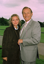 Actor GERALD HARPER and MISS SARAH ALEXANDER at a polo match in Cirencester on 24th June 1997.LZP 50