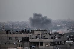 May 3, 2019 - Gaza City, The Gaza Strip, Palestine - Smoke rise after Israeli airstrike the Gaza strip. (Credit Image: © Hassan Jedi/Quds Net News via ZUMA Wire)