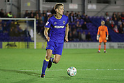 AFC Wimbledon defender Paul Robinson (6) dribbling during the EFL Cup match between AFC Wimbledon and Brentford at the Cherry Red Records Stadium, Kingston, England on 8 August 2017. Photo by Matthew Redman.