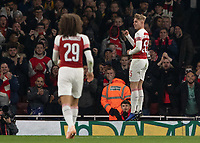 Football - 2018 / 2019 EFL Carabao (League) Cup - Fourth Round: Arsenal vs. Blackpool<br /> <br /> Emile Smith Rowe (Arsenal FC) celebrates after scoring at The Emirates.<br /> <br /> COLORSPORT/DANIEL BEARHAM