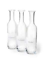 Glass wine decanters