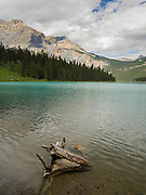 View of Emerald Lake; Yoho National Park, near Golden, British Columbia, Canada.