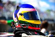 17-18 August, 2012, Montreal, Quebec, Canada.Jacques Villeneuve's helmet.(c)2012, Jamey Price.LAT Photo USA.