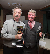 Eddie Ogg (president of the Belhaven Broughty Ferry Domino League) presents the Spring Cup to John MacDonald of Occidental -  Belhaven Broughty Ferry Domino League prizegiving at the Crown, Monifieth<br /> <br />  - &copy; David Young - www.davidyoungphoto.co.uk - email: davidyoungphoto@gmail.com