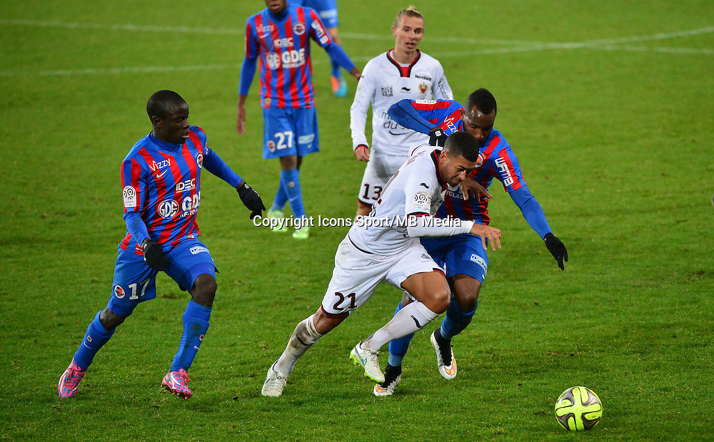 Lloyd PALUN / Lenny NANGIS - 06.12.2014 - Caen / Nice - 17eme journee de Ligue 1 -<br />