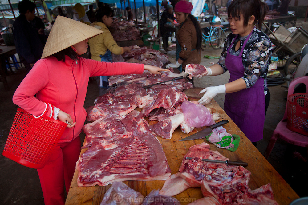Village near the international Airport in Hanoi, Vietnam. Market across from Avi Airport Hotel.