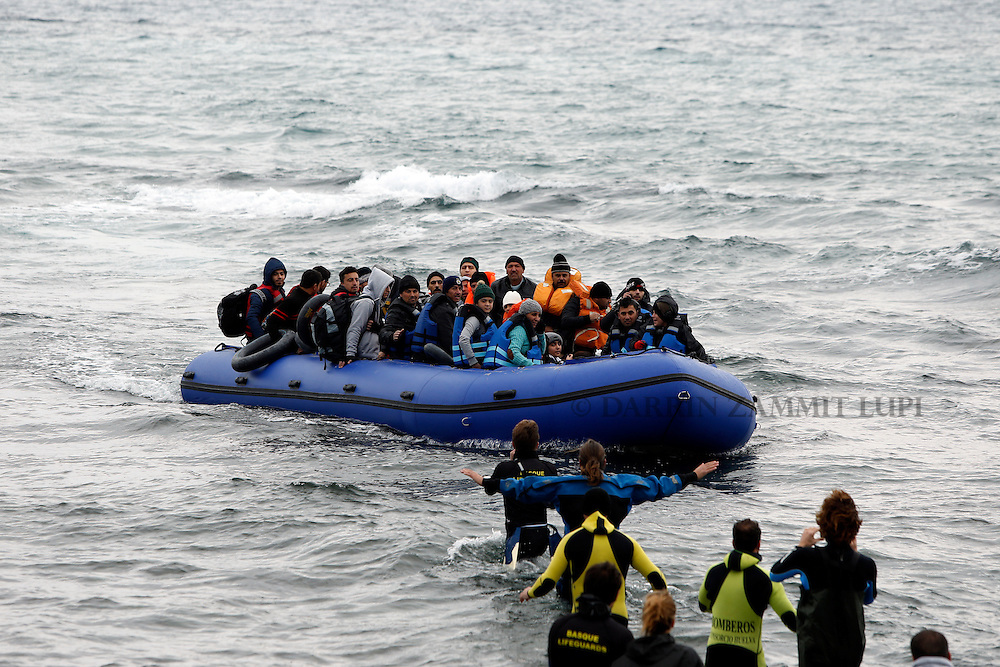 Migrants and refugees arrive on island of Lesbos, Greece. <br /> Photo: Darrin Zammit Lupi