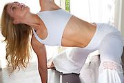 Yogini Sarah Tomson Beyer demonstrating her Flowmotion style of yoga.
