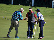 Roberto De Vincenzo, 2000 St. Andrews <br /> <br /> Roberto De Vincenzo (centre),  Jack Nicklaus (left) and Tom Watson (Right)