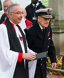 © Licensed to London News Pictures. 04/11/2015. London, UK. PRINCE PHILIP arriving at a service to mark the opening of the Filed of Remembrance at Westminster Abbey, attended by Prince Philip, Duke of Edinburgh and Prince Harry.  The Field of remembrance is a memorial garden to commemorate British and Commonwealth military and civilian servicemen and women in the two World Wars and later conflicts. Photo credit: Ben Cawthra/LNP
