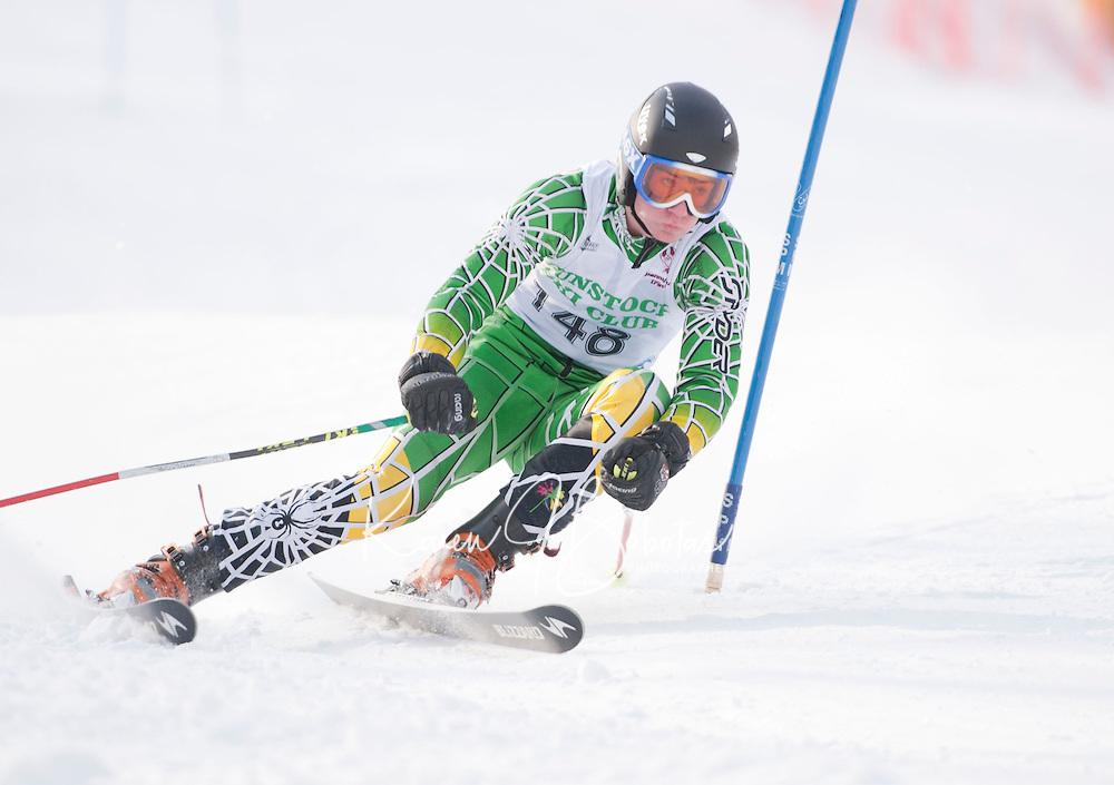 Macomber Cup at Gunstock first run mens giant slalom January 29, 2011.