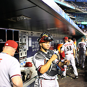Catcher Welington Castillo, Arizona Diamondbacks, in the dugout during the New York Mets Vs Arizona Diamondbacks MLB regular season baseball game at Citi Field, Queens, New York. USA. 10Th July 2015. Photo Tim Clayton