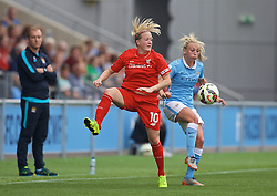 MANCHESTER, ENGLAND - Sunday, August 30, 2015: Liverpool's Line Smorsgard in action against Manchester City during the League Cup Group 2 match at the Academy Stadium. (Pic by Paul Currie/Propaganda)