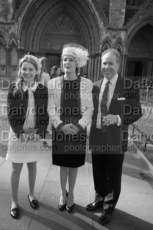 Lady Margarita Armstrong-Jones, The Countess of Snowdon; the Earl of Snowdon , Service of thanksgiving for  Lord Snowdon, St. Margaret's Westminster. London. 7 April 2017JASPER CONRAN,
