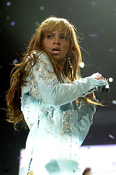 Beyonce Knowles on her Dangerously In Love 2003 UK tour at Sheffields Hallam FM Arena<br /> <br /> 7 November 2003<br /> <br /> Image © Paul David Drabble <br /> www.pauldaviddrabble.co.uk