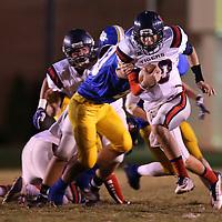 Adam Robison | BUY AT PHOTOS.DJOURNAL.COM<br /> Nettleton quarterback Coleton Ausbern runs the ball against the Booneville defense.