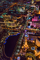 Las Vegas Boulevard featuring Paris, Flamingo, Caesar's Palace, Mirage & Treasure Island Hotels