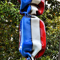 Bonbon Drapeau France Sculpture in Cannes, France <br />