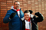 Crawley Town fans before the EFL Sky Bet League 2 match between Walsall and Crawley Town at the Banks's Stadium, Walsall, England on 18 January 2020.