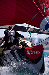 Louis Vuitton Pacific Series in Auckland Training, teams are getting used to the boats, first match are happening, Team Origin looks strong