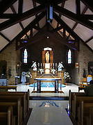Interior of Our Lady of Good Help Shrine chapel in Champion, Wis. Taken with iPhone 4. (Photo by Sam Lucero.