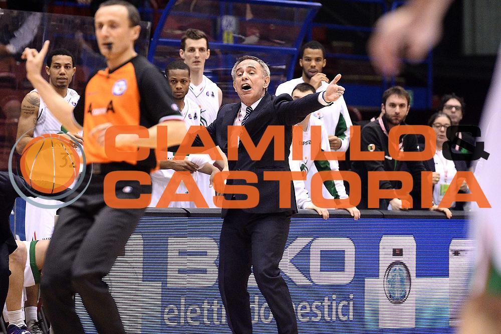 DESCRIZIONE : Milano Coppa Italia Final Eight 2014 Quarti di Finale Acea Virtus Roma Montepaschi di Siena <br /> GIOCATORE : marco crespi<br /> CATEGORIA : mani<br /> SQUADRA :  Montepaschi di Siena<br /> EVENTO : Beko Coppa Italia Final Eight 2014<br /> GARA : Acea Virtus Roma Montepaschi di Siena <br /> DATA : 07/02/2014<br /> SPORT : Pallacanestro<br /> AUTORE : Agenzia Ciamillo-Castoria/M.Greco<br /> Galleria : Lega Basket Final Eight Coppa Italia 2014<br /> Fotonotizia : Milano Coppa Italia Final Eight 2014 Quarti di Finale Acea Virtus Roma Montepaschi di Siena <br /> Predefinita :