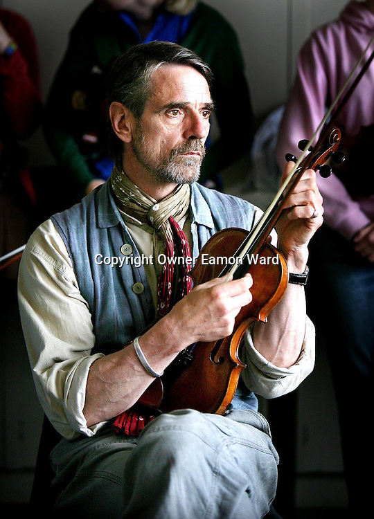 Actor Jeremy Irons taking part in a Traditional Fiddle Class at the Willie Clancy Summer School for Traditional Irish Music at Milltown Malbay ,Co Clare ,Ireland...Photograph by Eamon Ward
