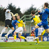 Inverness Caledonian Thistle v St Johnstone...27.10.12      SPL<br /> David Robertson heads home a late equaliser<br /> Picture by Graeme Hart.<br /> Copyright Perthshire Picture Agency<br /> Tel: 01738 623350  Mobile: 07990 594431