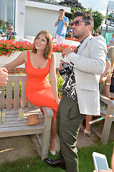 GEMMA ARTERTON and DOMINIC COOPER at the Audi International Polo at Guards Polo Club, Windsor Great Park, Egham, Surrey on 26th July 2014.
