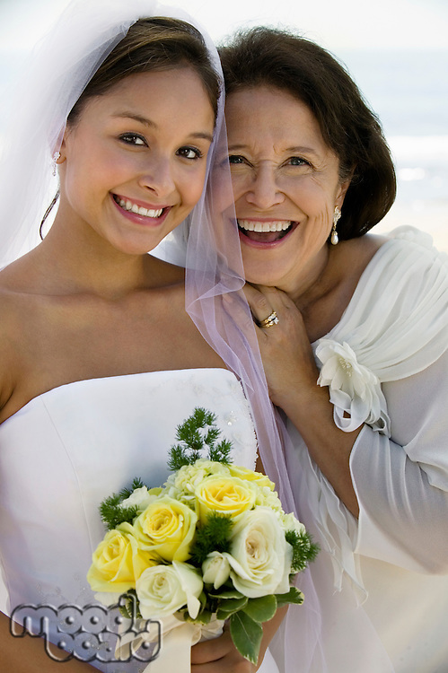 Happy Bride and Mother