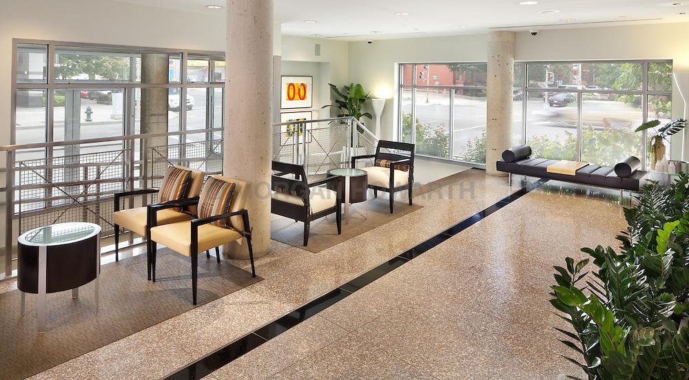 Radius Condominiums 1300 N Street NW Washington,DC 1300 N Street NW Washington DC interior design by Apartment Zero Lobby community room and halls Lobby reception foyer