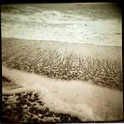 Holga images from Thorpeness beach, Suffolk, UK. December 2010