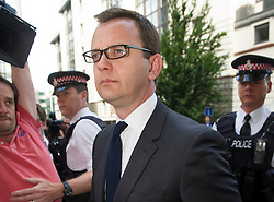 Image ©Licensed to i-Images Picture Agency. 04/07/2014. London, United Kingdom. Andy Coulson arrives for sentencing. Former editor of the News of the World arrives today for sentencing in the phone hacking trial at Old Bailey. Picture by i-Images