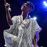 "WASHINGTON, DC - August 23rd, 2014 - Slim Jimmy of Rae Sremmurd performs at the 3rd annual Trillectro Music Festival at RFK Stadium in Washington, D.C. The group's single ""No Flex Zone"" is currently moving up the hip-hop charts. (Photo by Kyle Gustafson / For The Washington Post)"