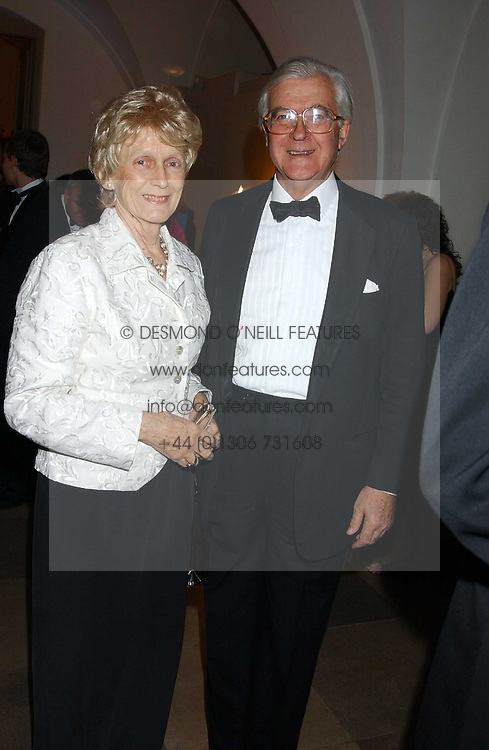 LORD & LADY BAKER OF DORKING at a dinner attended by the Conservative leader Michael Howard and David Davis and David Cameron held at the Banqueting Hall, Whitehall, London on 29th November 2005.<br />
