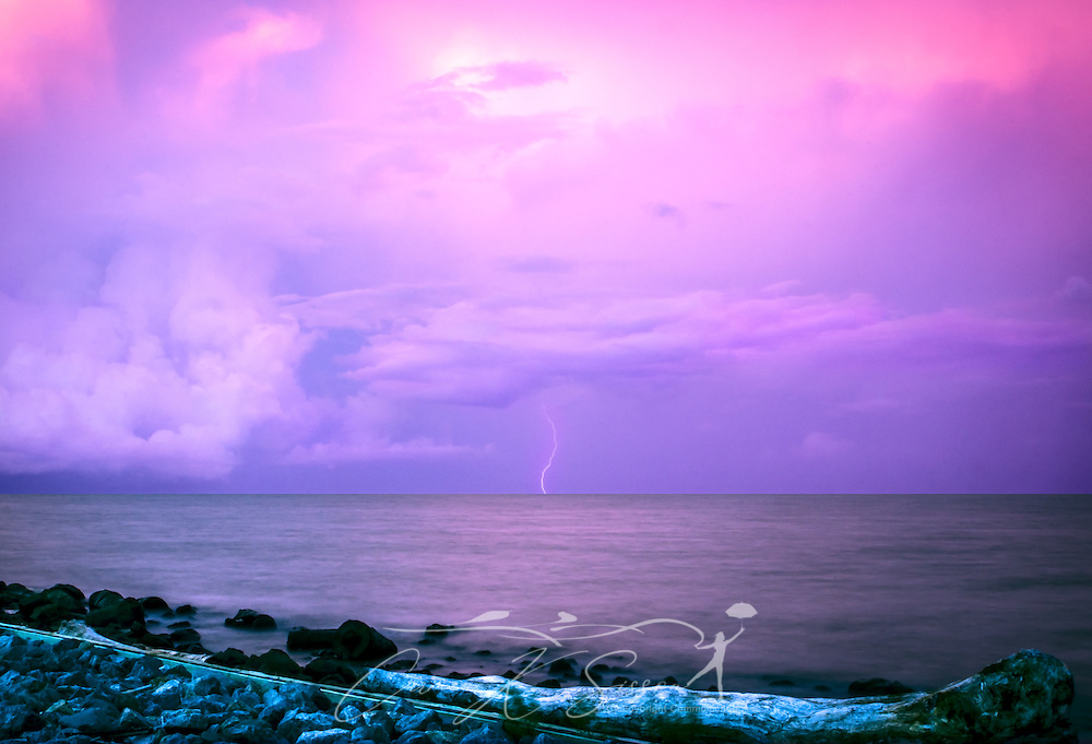 Lightning strikes Mobile Bay near Dauphin Island, Ala., June 23, 2013. (Photo by Carmen K. Sisson/Cloudybright)