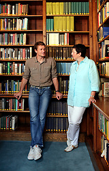 UK ENGLAND LONDON 10AUG07 - Arsenal goalkeeper Jens Lehmann and academic Dr Christiane Eisenberg during photoshoot at the German Historical Institute in Bloomsbury, central London...jre/Photo by Jiri Rezac..© Jiri Rezac 2007..Contact: +44 (0) 7050 110 417.Mobile:  +44 (0) 7801 337 683.Office:  +44 (0) 20 8968 9635..Email:   jiri@jirirezac.com.Web:    www.jirirezac.com..© All images Jiri Rezac 2007 - All rights reserved.