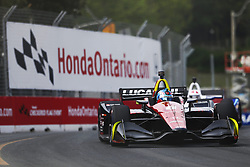 July 14, 2018 - Toronto, Ontario, Canada - ROBERT WICKENS (6) of Canada takes to the track to practice for the Honda Indy Toronto at Streets of Toronto in Toronto, Ontario. (Credit Image: © Justin R. Noe Asp Inc/ASP via ZUMA Wire)